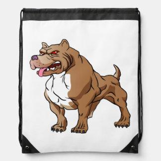 strong pitbull bodybuilder. drawstring backpack