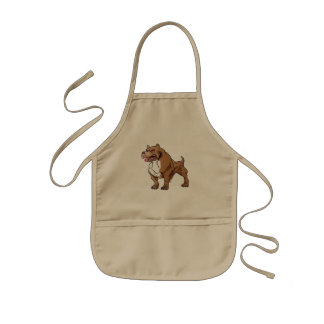 strong pitbull bodybuilder. kids apron