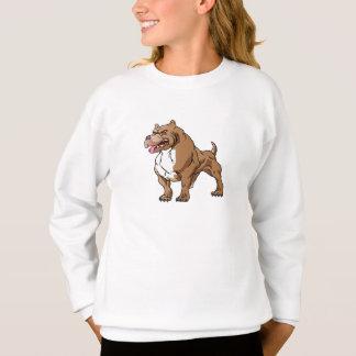 strong pitbull bodybuilder. sweatshirt