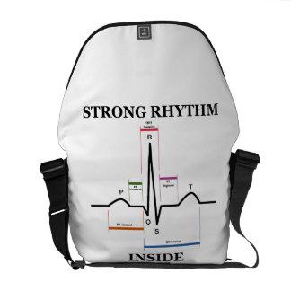 Strong Rhythm Inside (ECG / EKG Electrocardiogram) Messenger Bags