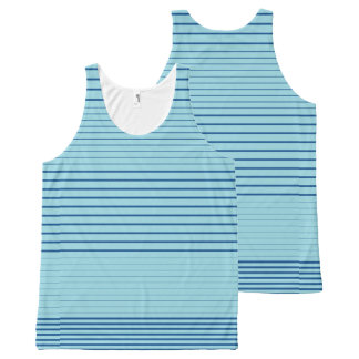 Strong Stripes (lapis-island blue) All-Over Print Singlet