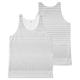 Strong Stripes (light grey) All-Over Print Singlet