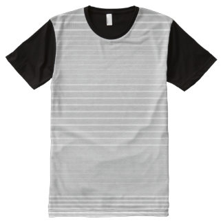 Strong Stripes (light grey) All-Over Print T-Shirt