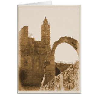 Strong Tower - Scripture Greeting Card