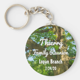 Strong Tree Family Reunion Custom Basic Round Button Key Ring