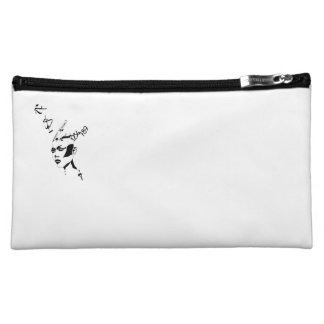 Strong urban woman design cosmetic bags