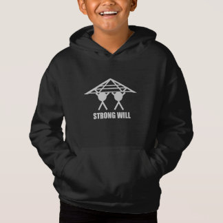 STRONG WILL BLACK PULLOVER HOODIE