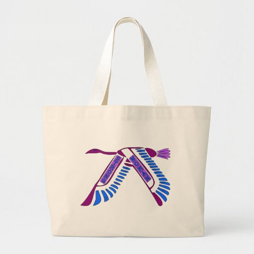 Strong Woman Flying Canvas Bag