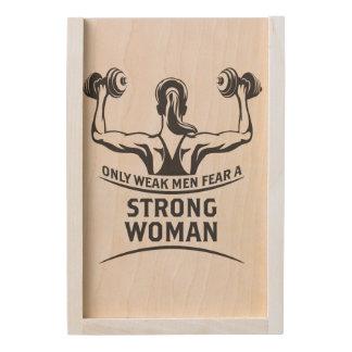 Strong Woman Wooden Keepsake Box