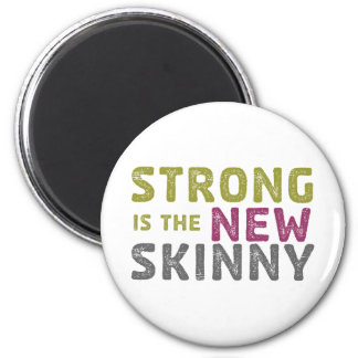 Stronge is the New Skinny - Sketch 6 Cm Round Magnet