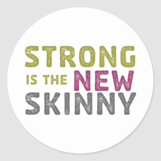 Stronge is the New Skinny - Sketch Round Sticker