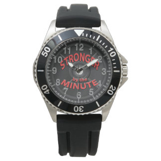 Stronger by the Minute Barbell Weight Wristwatch