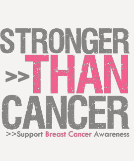 Stronger Than Cancer - Breast Cancer Tshirt
