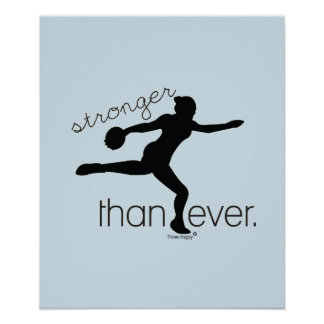 Stronger Than Ever Discus Throw Poster Gift