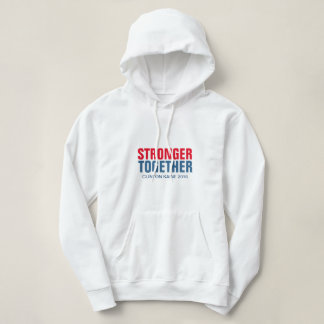 Stronger Together Clinton Kaine 2016 Slogan Hoodie