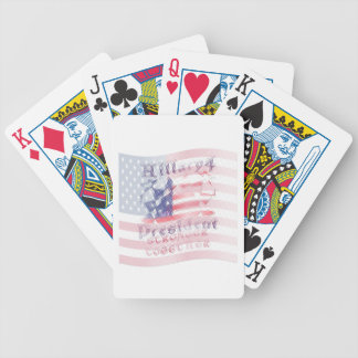Stronger together USA Hillary 4 President American Poker Deck