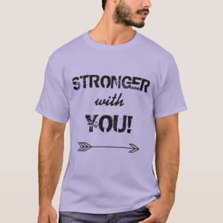 STRONGER with You Boyfriend Lavender Tshirt