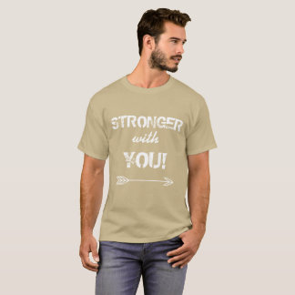 STRONGER with You Godfather Pebble Beige Tshirt