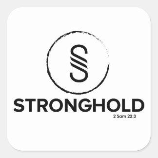 Stronghold - 2 Samuel 22:3 Square Sticker