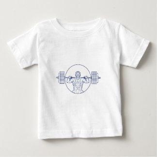 Strongman Lifting Weight Mono Line Baby T-Shirt