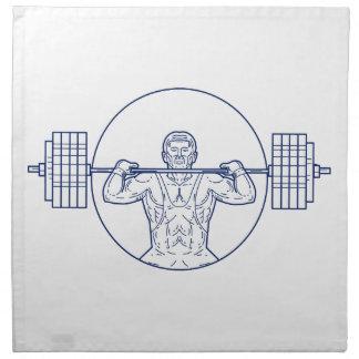 Strongman Lifting Weight Mono Line Napkin