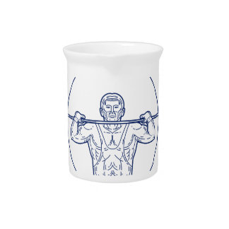 Strongman Lifting Weight Mono Line Pitcher