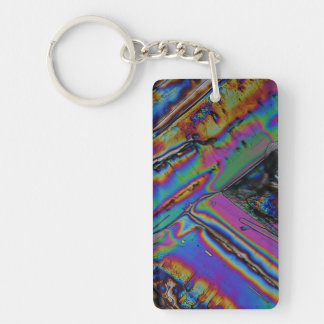 Strontium under the microscope Single-Sided rectangular acrylic key ring