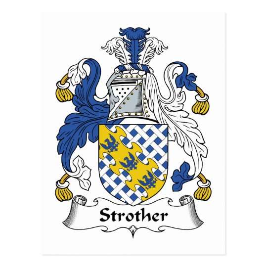 Strother Family Crest Postcard
