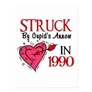 Struck By Cupid's Arrow In 1990 Postcard