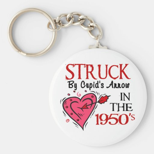 Struck By Cupid's Arrow 1950's Key Chains