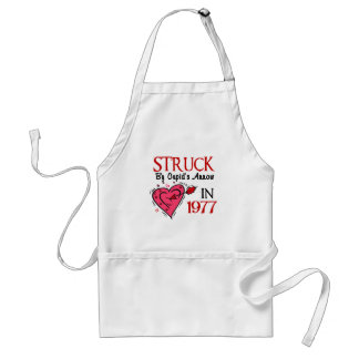 Struck With Cupid's Arrow In 1977 Standard Apron