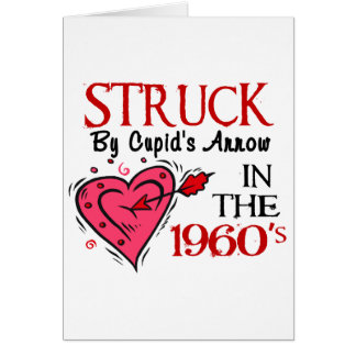 Struck With Cupid's Arrow In The 1960's Greeting Card