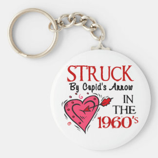 Struck With Cupid's Arrow In The 1960's Key Chains