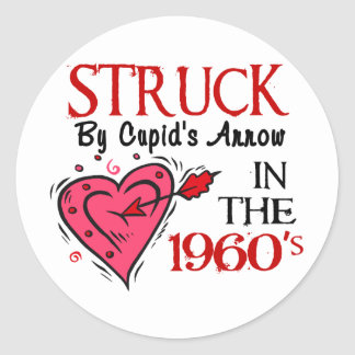 Struck With Cupid's Arrow In The 1960's Sticker