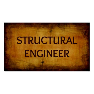 Structural Engineer Antique Brushed Business Card