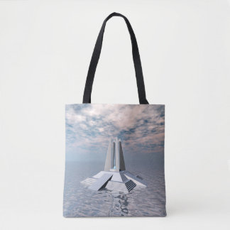 Structural Tower of Atlantis Tote Bag