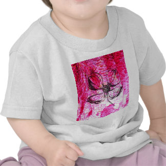 structure bright pink flower t-shirts