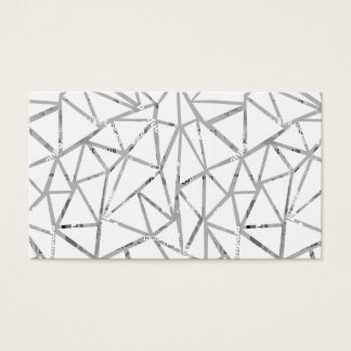 Structure of triangles with a collage of fonts business card