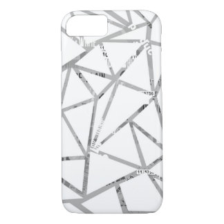 Structure of triangles with a collage of fonts iPhone 8/7 case