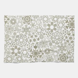 Structure snow3 tea towel