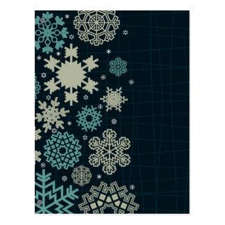 Structure snow postcard