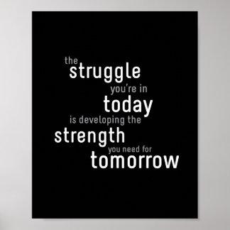 Struggle Today - 8 x10 Art Print