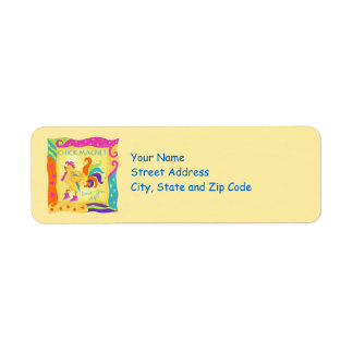 Strut Your Stuff Chick Magnet  Address Label