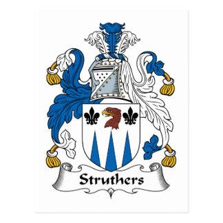 Struthers Family Crest Postcard