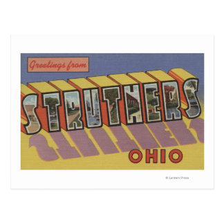 Struthers, Ohio - Large Letter Scenes Postcard