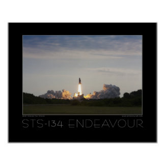 STS-134 Space Shuttle Endeavour Poster