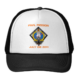 STS-135 Patch, Final Mission, July 08 2011 Hats