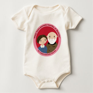 Sts. Louis and Zelie Martin Baby Bodysuit