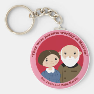 Sts. Louis and Zelie Martin Key Ring