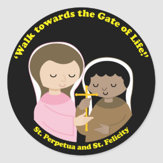 Sts. Perpetua and Felicity Round Sticker